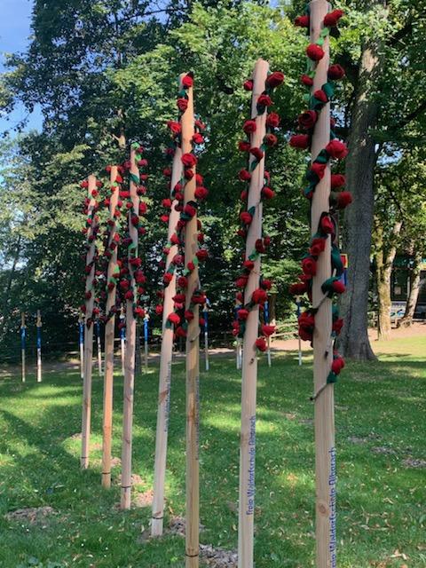 Schützenstelen Biberach, Gigelberg Filzrosen Freie Waldorfschule 2020